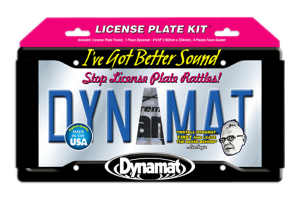 Dynamat License Plate Kit